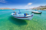 Fototapety Fishing boats at the coast of Crete, Greece