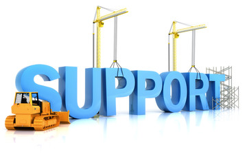 Support building concept on a white background.