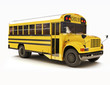 School bus with white top isolated on a white background - 45223679
