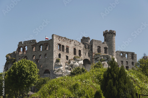 Ruins of old medieval castle
