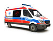 European Ambulance on a white background