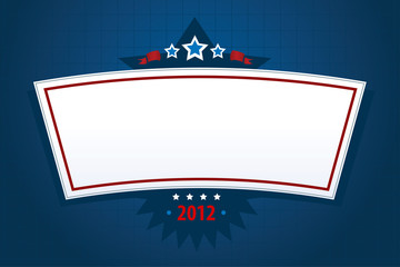 digital image of a new year or election banner