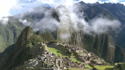 Machu Picchu with clouds, Cusco, peru, Southamerica