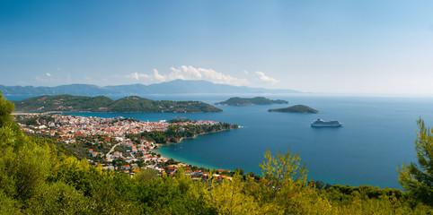 Greek  town in a bay