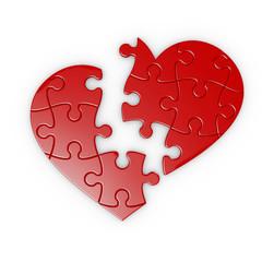 puzle de un corazon roto