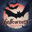 vintage grungy halloween design (vector)