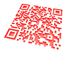 Monochromatic red QR code 2