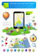 Navigation elements kit design template. Fully editable. Vector.