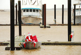 Santa Claus Fishing in the Bay