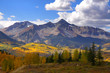 Scenic landscape of rocky mountains in Colorado
