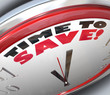 Time to Save Clock Money Savings Wealth
