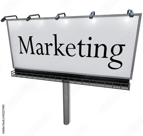 Billboard Marketing Word Advertising Promotion Sign