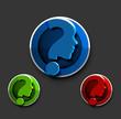 question mark icon, vector
