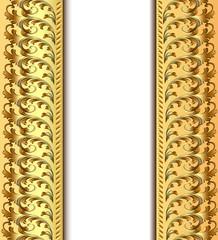 background frame for invitation gold pattern
