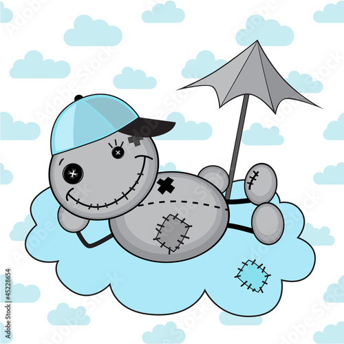 Monster boy on a cloud