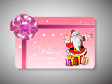 Merry Christmas gift card. EPS 10.