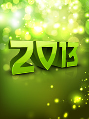 2013 Happy New Year greeting card. EPS 10.