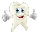 Smiling tooth mascot - 45231682