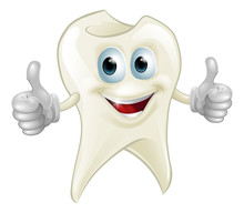 Uśmiechnięte maskotki zębów