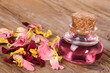 Wellness with rose petals