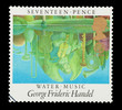 UK stamp featuring classical Water Music by Handel, circa 1986