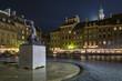 Night scene of Warsaw mermaid monument