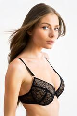 Beautiful half-dressed woman