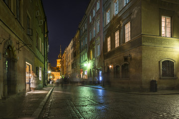 Warsaw's Old Town street at historic district