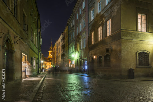 Warsaw's Old Town street at historic district © Cinematographer