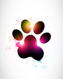 Abstract Paw Print Spectrum