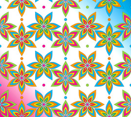 Fancy seamless flower background