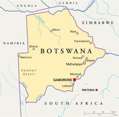 Botswana map (Botsuana Landkarte)