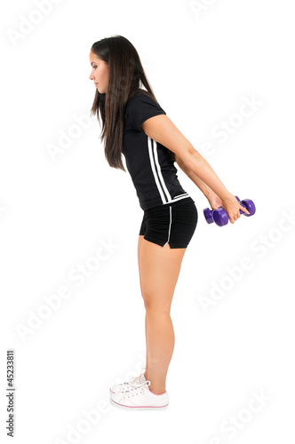 Isolated fitness girl