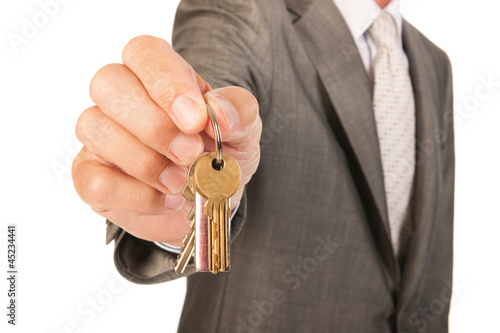 House broker with keys