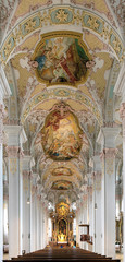 Interior of the Holy Spirit Church in Munich, Germany