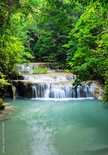 Cascading falls in tropical rain forest, Thailand © boonsom