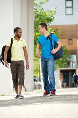 Multicultural Students Walking at University