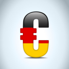 Euro Symbol with Germany Flag