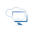 Cloud computing and mobility concept # Vector