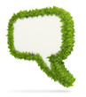 Green leafs speech bubble