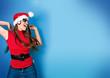 missis santa 12_2/dancing Santagirl in front of a wall
