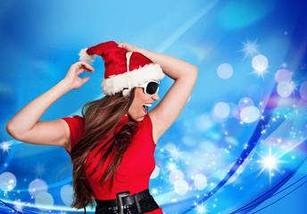 missis santa 13/dancing Santagirl with lights