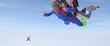 Leinwandbild Motiv Saut en parachute en tandem
