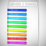 services à domicile concept (textes modifiables) poster