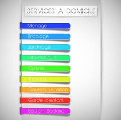 services à domicile concept (textes modifiables)