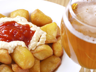 Patatas Bravas – Hot spicy fried potatoes