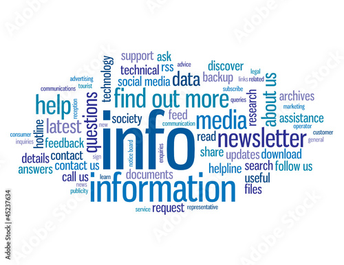 """INFO"" Tag Cloud (information help find out more button)"