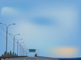 free highway to blue sky