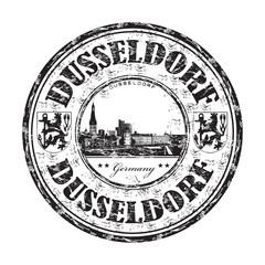 Dusseldorf grunge rubber stamp