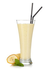 Banana milk smoothie